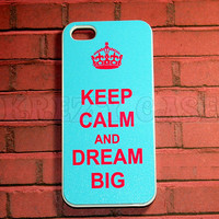 Iphone 5 Case, New iPhone 5 case Keep Calm and Dream Big Pink color font iphone 5 Cover, iPhone 5 Cases, Case for iPhone 5