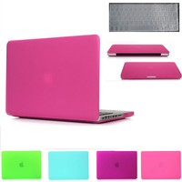 laptop Case new matte rose red for Macbook Pro 13/retiana 12 13 computer accessories notebook protective for mac book air 13 11