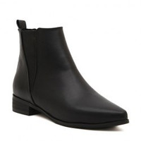 Stylish Women's Ankle Boots With Pointed Toe and Elastic Design