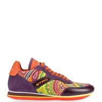 ETRO Woman's ORANGE PAISLEY TRAINERS | 161S1204749620750