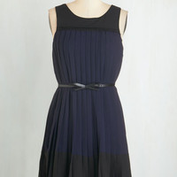 Mid-length Sleeveless A-line Going Accordion to Plan Dress