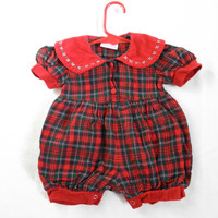 Baby Girls Plaid Jumper All in One Size 3 Months