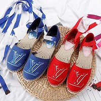 LV simple female woven wild fisherman shoes