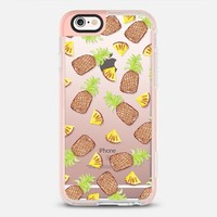 Tropical Watercolor Painted Pineapples Fruits Pattern- Transparent iPhone 6s case by BlackStrawberry | Casetify