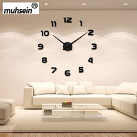 Wall Clock Watch muhsein 3D DIY Acrylic Mirror Wall Stickers Home Decor