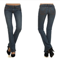 5 Pocket Denim Straight Leg Jeans (Size 5, 7, 9)