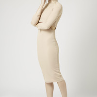 Long Sleeve Cut Out Bodycon Dress - Topshop