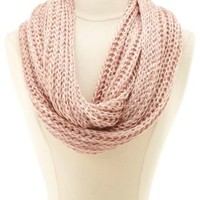 Threaded Yarn Infinity Scarf by Charlotte Russe - Pink