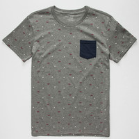 BLUE CROWN Geo Banks Mens Pocket Tee | Graphic Tees