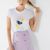 UO Maria Stretch Linen Mini Skirt | Urban Outfitters