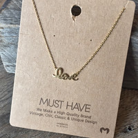 """Love """"Must Have"""" Necklace"""