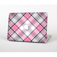 The Black and Pink Layered Plaid V5 Skin for the Apple MacBook Pro Retina 15""