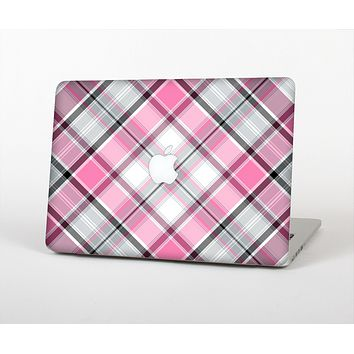 """The Black and Pink Layered Plaid V5 Skin for the Apple MacBook Air 13"""""""