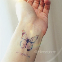 Colored Galaxy Butterfly tattoo - InknArt Temporary Tattoo - wrist quote tattoo body sticker fake tattoo wedding tattoo small tattoo