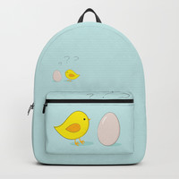 The chicken or the egg Backpack by edrawings38