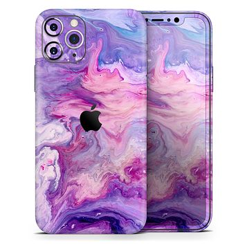 Blue & Pink Acrylic Abstract Paint V2 - Skin-Kit compatible with the
