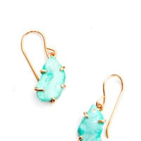 Turquoise Claw Drop Earrings