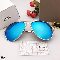 DIOR 2018 new trend simple men and women couple models color film polarized sunglasses #2