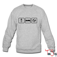 Eat Sleep Volleyball crewneck sweatshirt