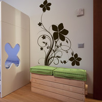 Vinyl Wall Decal Sticker Flower Design #1159