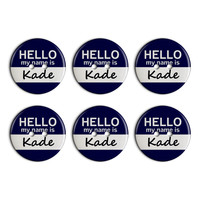 Kade Hello My Name Is Plastic Resin Button Set of 6