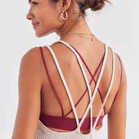 Silence + Noise Waffle Knit Strappy Back Tank Top | Urban Outfitters
