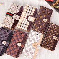 Louis vuitton fashion house sells contrasting colors and printed men's and women's casual Iphone cases