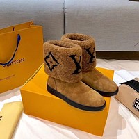 New Arrival LV Louis Vuitton Women's Leather COFFEE BOOTS HEELS SHOES WARM WINTER 2020 -   FROM men jersep