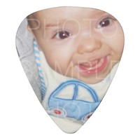 Customize it with Your photo and text Guitar pick