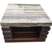 Luxury Marble Shine Sustainable Coffee Table and Side Table
