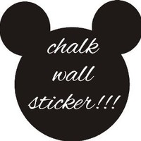 MICKEY MOUSE CHALK BOARD STICKER WALL ART CHILDRENS GIRLS BOYS HOME BEDROOM DIY (40x40cm)