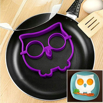 Free Shipping Silicone Egg Mold Tool Breakfast Funny Cooking Tools Fried Egg Mold Pancake Egg Ring Shaper Kitchen Appliances