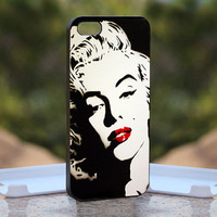Marilyn Monroe Lips  - Design available for iPhone 4 / 4S and iPhone 5 Case - black, white and clear cases