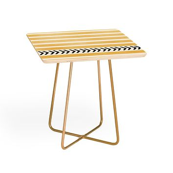 Allyson Johnson Yellow Stripes And Arrows Side Table
