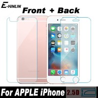 9H 0.3mm Front+Back Tempered Glass For iPhone 5 5S SE 6 6G 6S 7 8 Plus X 10 4 4S Rear Screen Protector Anti Shatter Film