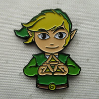 Green Link Hat Pin