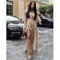 Tania Ruffle Fashion Jumpsuit