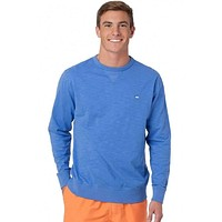 Upper Deck Slub Knit Pullover in Charting Blue by Southern Tide