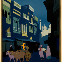Visit India A Street By Moonlight Travel Poster
