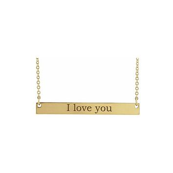 Long Bar Name Necklace