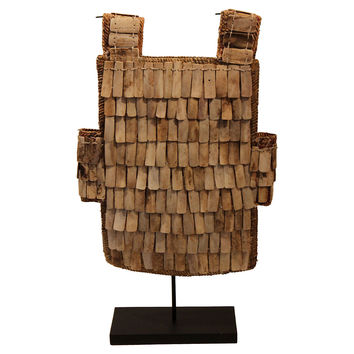 Toraja Tribal Armor Vest on Stand