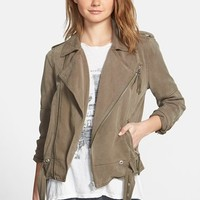 Women's Pam & Gela Moto Military Jacket,