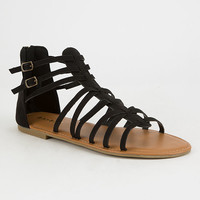 BAMBOO Strappy Back Zip Womens Gladiator Sandals   Sandals