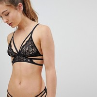 New Look Strapping Lace Bralet at asos.com
