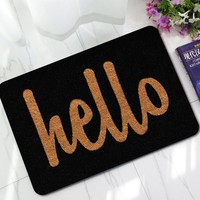 Words Decor Door Mat Rubber Anti-Slip Shower Toilet Mats Bathroom Floor Rug