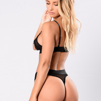 Love Therapy Thong - Black