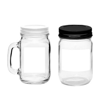 30 Printable Quart Jar Labels, Waterproof Vinyl White