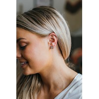 Pave Earrings - Gold