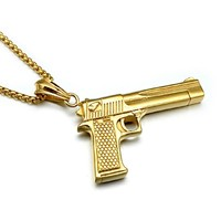 Pistol Gun Necklace