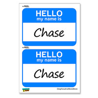 Chase Hello My Name Is - Sheet of 2 Stickers